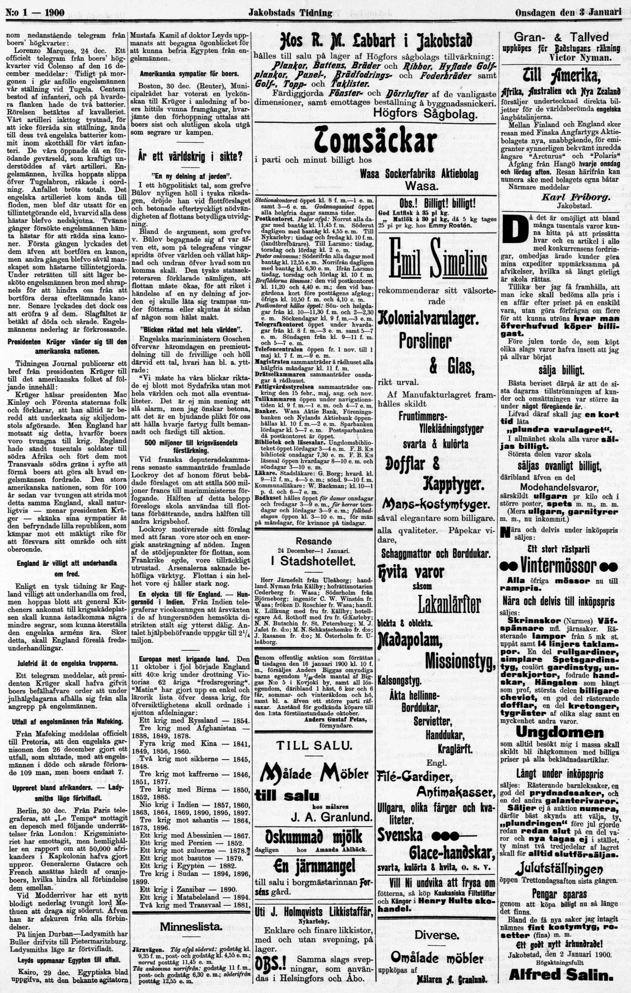 Jakobstads Tidning
